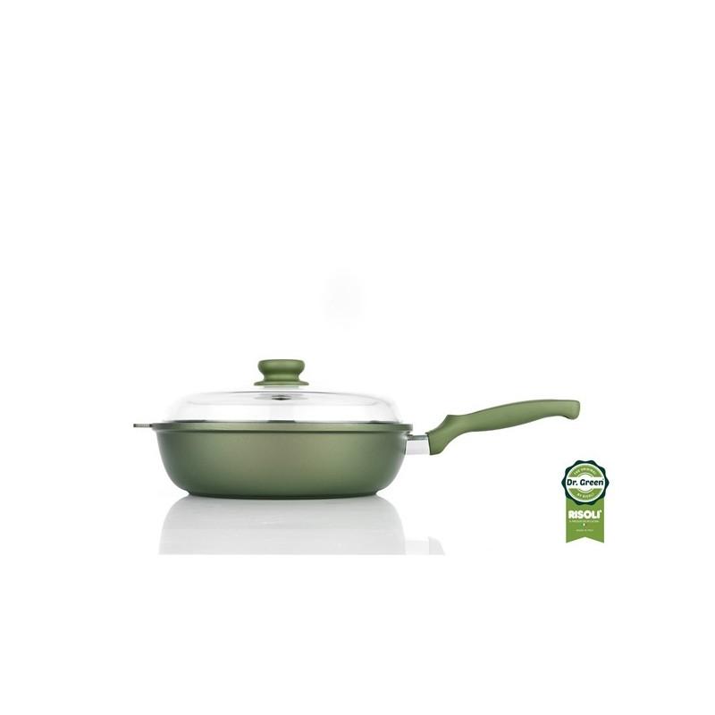 Dr Green Βαθύ τηγάνι με καπάκι 28 ιντσών