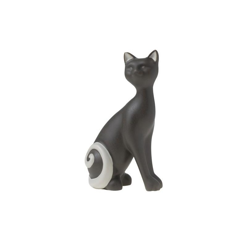 διακοσμητική φιγούρα γάτα καθιστή γκρί