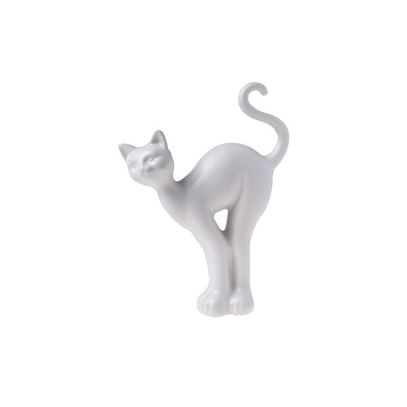 διακοσμητική φιγούρα γάτα όρθια λευκό