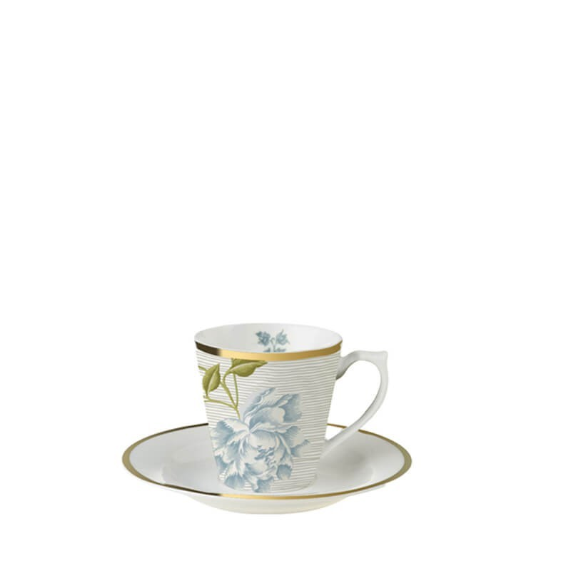 Heritage Φλυτζάνι Espresso με πιατάκι Cobbletone Pinstripe