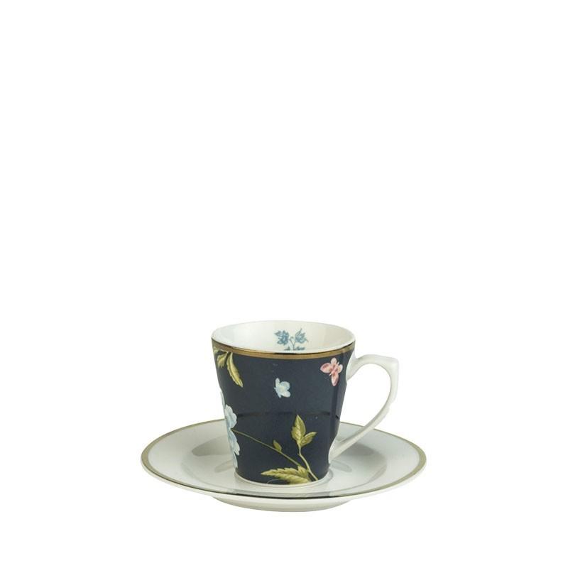 Heritage Φλυτζάνι Espresso με πιατάκι Midnight Uni