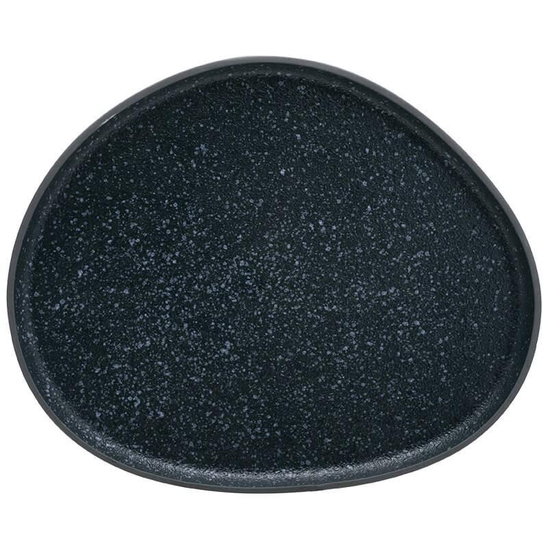 Πιατέλα σερβιρίσματος Granite μπλέ / μπέζ