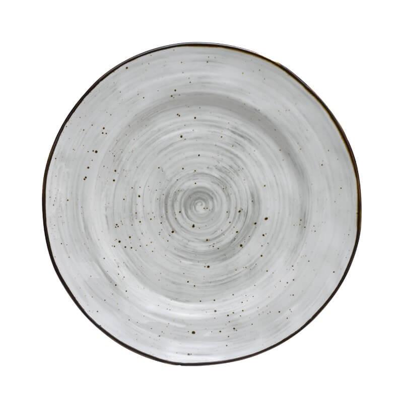 Πιατέλα σερβιρίσματος στρογγυλή Country Grey